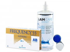 Frequency 55 Aspheric (6 Linsen) +Laim Care400ml