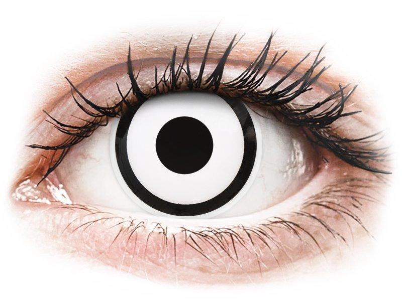 ColourVUE Crazy Lens - White Zombie - mit Stärke (2 Linsen)