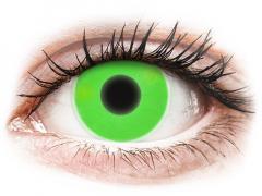ColourVUE Crazy Glow Green - ohne Stärke (2 Linsen)