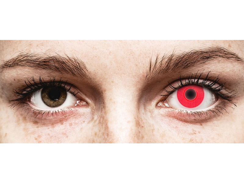 ColourVUE Crazy Glow Red - ohne Stärke (2 Linsen)