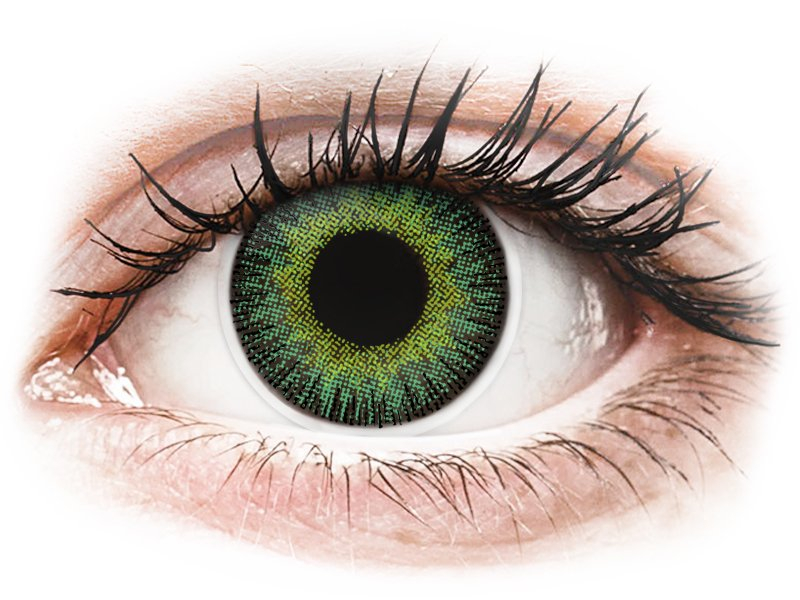 ColourVUE Fusion Green Yellow - ohne Stärke (2Linsen)