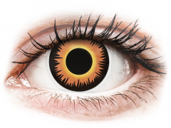 ColourVUE Crazy Lens - Orange Werewolf - Tageslinsen ohne Stärke (2 Linsen)