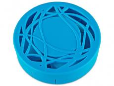 Kontaktlinsen-Etui - Ornament blau
