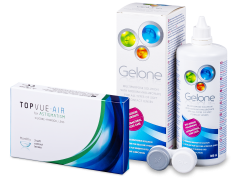 TopVue Air for Astigmatism (3Linsen) + Gelone 360 ml