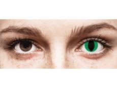 CRAZY LENS - Cat Eye Green - Tageslinsen ohne Stärke (2 Linsen)