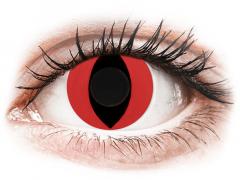 CRAZY LENS - Cat Eye Red - Tageslinsen ohne Stärke (2 Linsen)