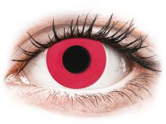 CRAZY LENS - Solid Red - Tageslinsen mit Stärke (2 Linsen)