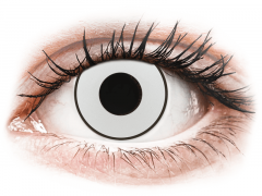 CRAZY LENS - White Black - Tageslinsen ohne Stärke (2 Linsen)