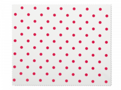 Brillenreinigungstuch - rote Punkte