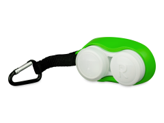Linsenetui mit Karabiner - grün