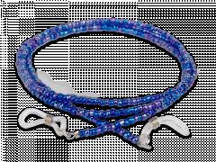 Brillenkordel in blau - perlenförmig