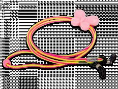 Brillenkordel in Pink und Gelb - Schmetterling